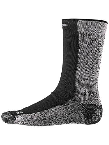 Drymax Cold Weather Run Crew Socks Black M 2-Pack by Drymax