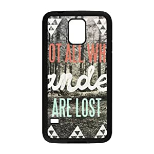 Wesley Bird Not All Who Wander Are Lost Cell Phone Case for Samsung Galaxy S5