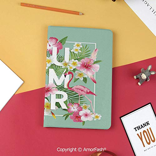 - Case for Samsung Tab S3 9.7 SM-T820 SM-T825 Tablet Case Protective Cover Crystal Case,Floral Decor,Tropical Flower with Flamingos Retro Wedding Romance Petals Graphic Art,Mint Green Pink
