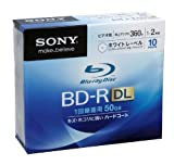 Sony Blu-ray Disc 10 Pack - 50GB 2x Speed BD-R DL Version 2010 - White Inkjet Printable