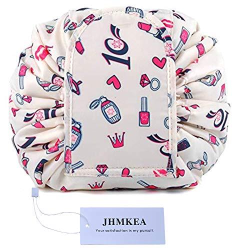 Women Drawstring Cosmetic Bag Portable Travel Lazy Makeup Bag Organizer Make Up Storage Travel Drawstring Bag Pouch Waterproof Toiletry Bags Organizer