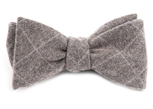 The Tie Bar Printed Wool Blend Printed Flannel Pane Charcoal Self-Tie Bow ()