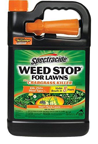 Spectracide Weed Stop For Lawns Plus Crabgrass Killer, Ready-to-Use, 1-Gallon, 4-Pack (Best Weed Stop For Lawns)