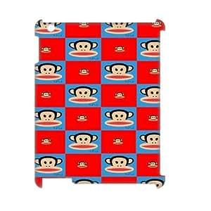 Custom Paul Frank 3D Hard Case for iPad 2,iPad 3,iPad 4, Customized Paul Frank 3D iPad 3 Hard Cover Case, DIY Paul Frank 3D Ipad 2,4 Cover