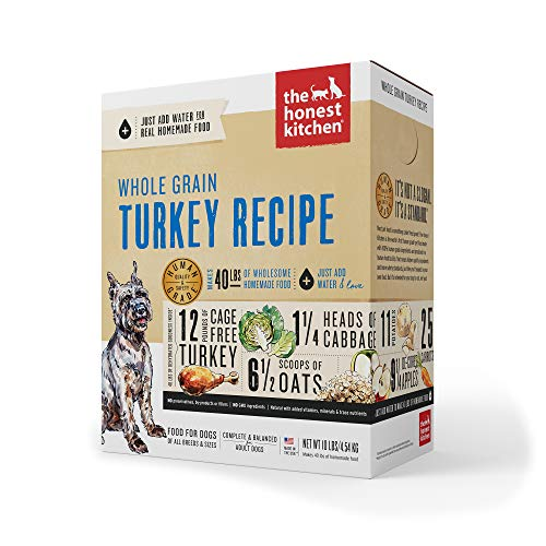 The Honest Kitchen Human Grade Dehydrated Organic Grain Turkey Dog Food 10 lb - Keen