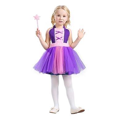881c5cd265 Amazon.com  HÖTER Girls Princess Dress Up Apron Halloween Costume Party Fancy  Dress  Clothing