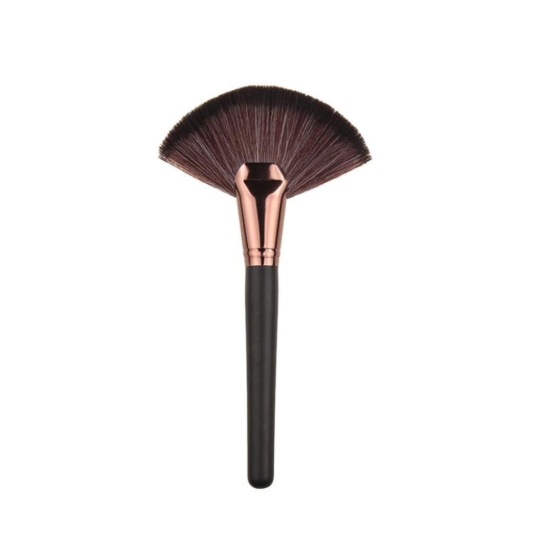 MakeUp Tool, TOOPOOT Large Fan Patern Goat Hair Blush Face Powder Foundation Cosmetic Brush