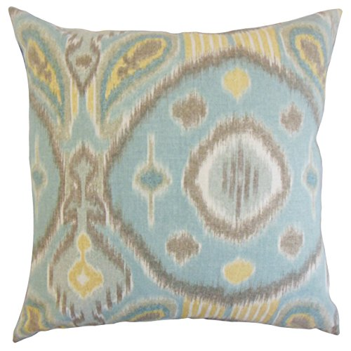The Pillow Collection Spa Janvier Ikat Bedding Sham, King/20'' x 36'' by The Pillow Collection