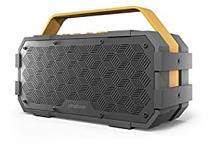 Photive M90 Portable Waterproof Bluetooth Speaker with Built In Subwoofer. 20 Watts Of Power- IPX5 Water Resistant- Rugged