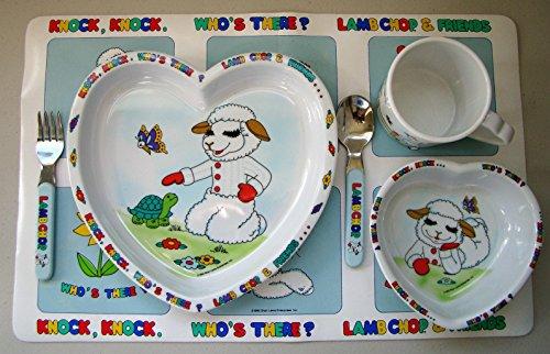 1993 Vintage Shari Lewis Lambchop Melamine Dinnerware Set