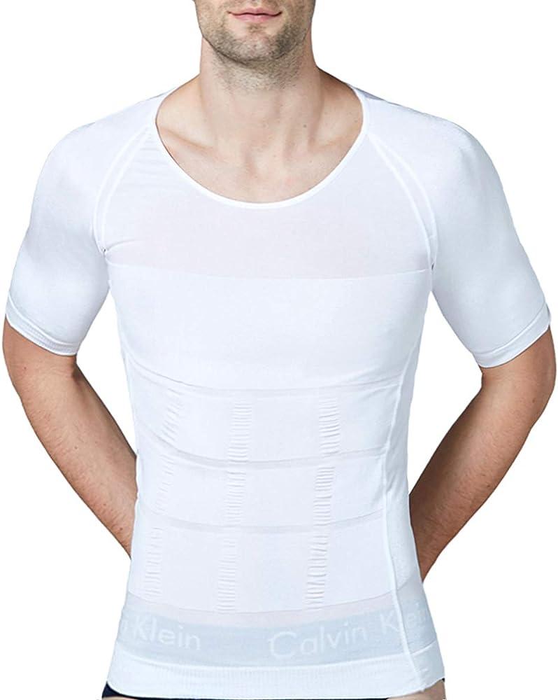 Hombres Body Shaper Chaleco Reductor Adelgazantes Camisa De Compresión Pecho Abs Abdomen Slim Tank Top Camiseta Corsés Deportivos: Amazon.es: Ropa y accesorios