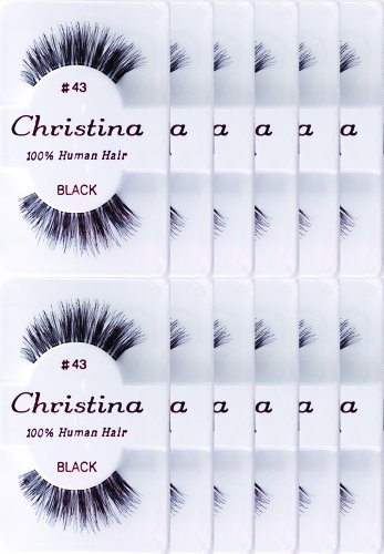 12packs Eyelashes - #43 by Christina ()