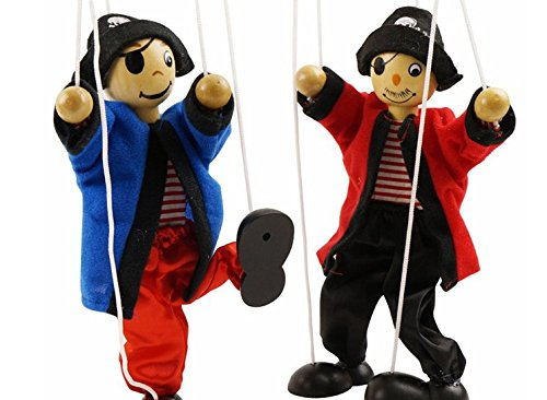 SPARIK ENJOY 2 Packs Clown Pirate Hand Marionette Puppet