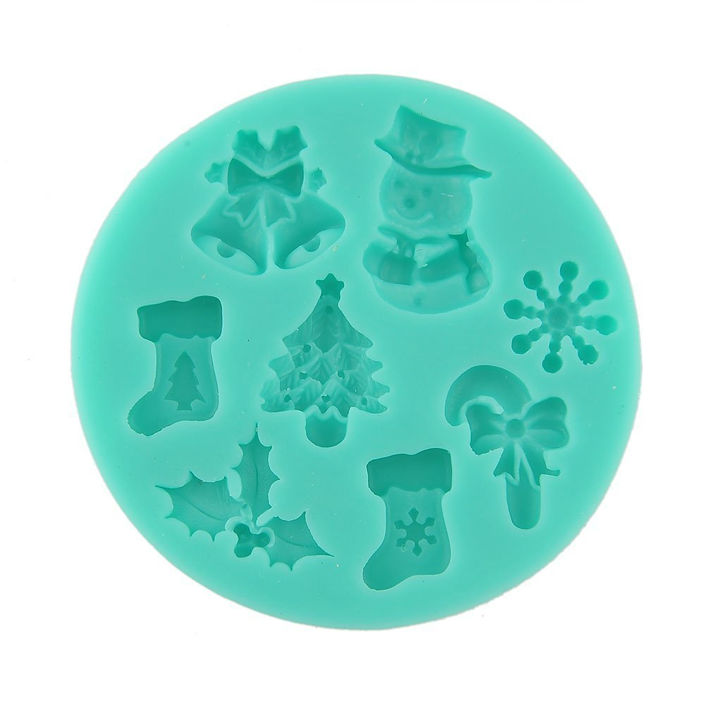 Fairy Season Christmas Tree Socks Snowman Silicone Candy Cake Mould Fondant Mould NWIDEKKFNK786