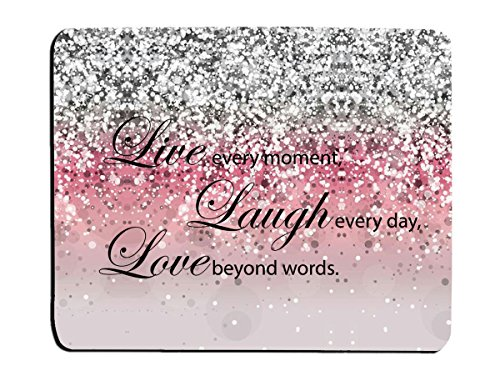 Glitter Mouse Pad Pink