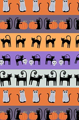 Notes: A Blank Guitar Tab Music Notebook with Cute Spooky Halloween Cats Cover Art
