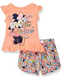 Disney Girls' Minnie Mouse Woven Short Set