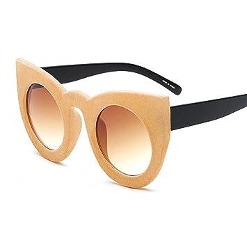 GUO Gafas de Sol de Moda Gafas de Moda de Terciopelo, B ...