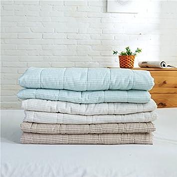 MUJIの品質 蜂の巣平織 綿100%薄い 掛け布団 ガーゼケット