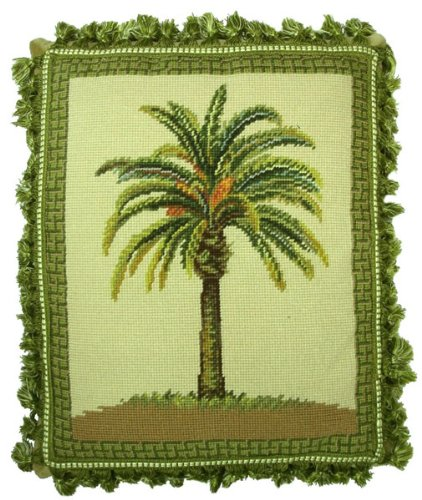 Deluxe Pillows Pheonix Palm - 18 x 15 in. needlepoint pillow