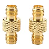Akozon SMA to RP-SMA Adapter 2pcs SMA Female to RP-SMA Female RF Connector Coaxial Adapter Test Converter