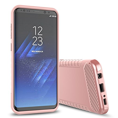 Galaxy S8 Case,Samsung Galaxy S8 Case,SKYLMW Impact Resistant Shock-Absorption Case,Dual Layer Armor Full-Body Protective Case for Samsung Galaxy S8 Rose Gold