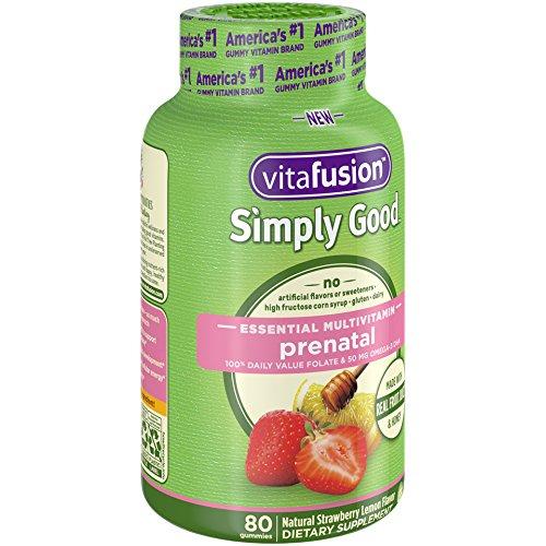 Amazon.com: Vitafusion Simply Good Prenatal Essential Multivitamin, 80 Count: Health & Personal Care