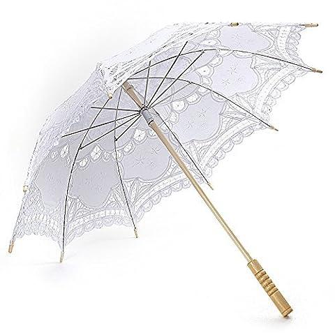 Koyal Wholesale Battenburg Lace Parasol Umbrella,