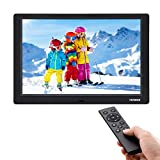 YENOCK Digital Picture Frame, 10.1 Inch IPS Screen Digital Photo Frame 1280×800 Pixels High Resolution Photo/Music/HD Video Player/Calendar/Alarm Auto On/Off Advertising Player with Remote Control