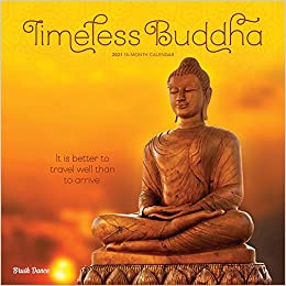Timeless Buddha 2021 12 x 12 Inch Monthly Square Wall Calendar by