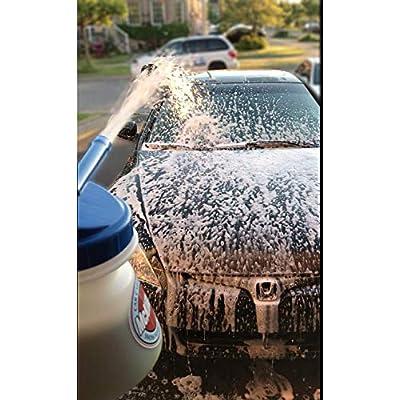 "McKillans Improved Design Garden Hose Foam Gun Adjustable Car Wash Soap Sprayer with 3/8"" Quick Connector for Detailing Car and Trucks: Automotive"
