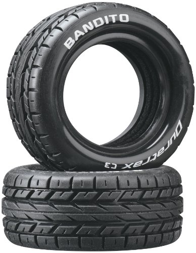 (Duratrax Bandito 1:10 Scale RC 4WD Buggy Front Tires with Foam Inserts, C3 Super Soft Compound, Unmounted (Set of 2))