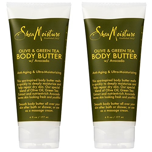 SheaMoisture Olive & Green Tea Body Butter, 6 Ounces - Pack