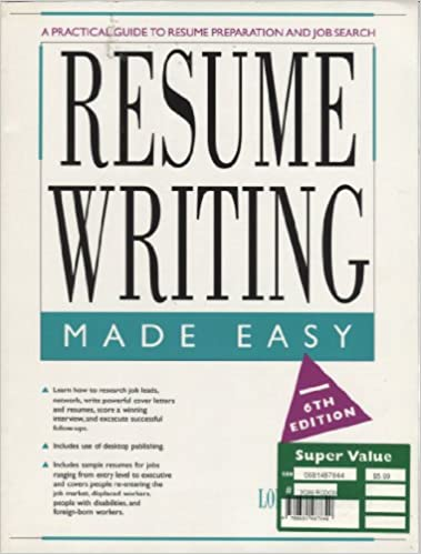 resume writing made easy a practical guide to resume preparation