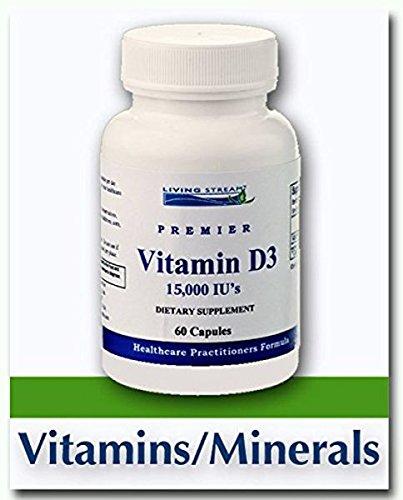 Vitamin D3 15,000 IU, 60 Capsules