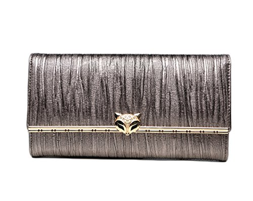 Clutch Bag Party Phone Long Bag Evening Luxury Grey Pouch Women's Clutch Small Cell Wallet Swxq4xf