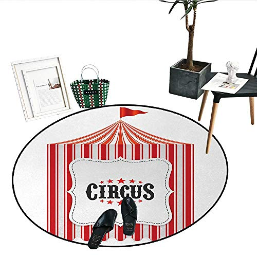 Circus Dining Room Home Bedroom Carpet Floor Mat Circus Tent Flagpole Classic Festival Childish Joy Leisure Theme Art Print Perfect for Any Room, Floor Carpet (28