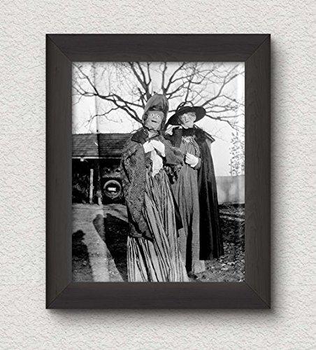 Creepy Ladies Photo Vintage Art Print 8x10 Wall Art Halloween Decor -