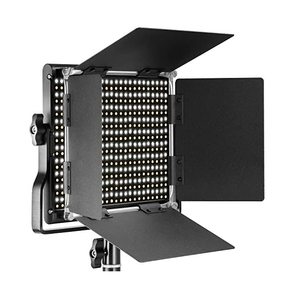 Neewer Pacchetto di due Luci LED 660 Illuminazione Video con Cavalletto in acciaio inox di 200cm Kit:LED Luce Bi-colore… 2 spesavip