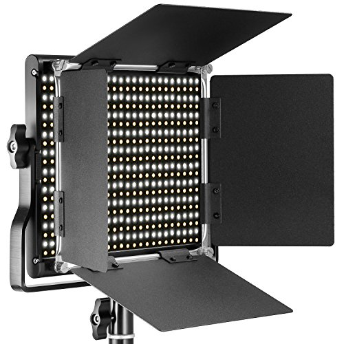 Neewer Professional Metal Bi-color LED Video Light for Studio, YouTube, Product Photography, Video Shooting, Durable Metal Frame, Dimmable 660 Beads, with U Bracket and Barndoor, 3200-5600K, CRI 96+ by Neewer