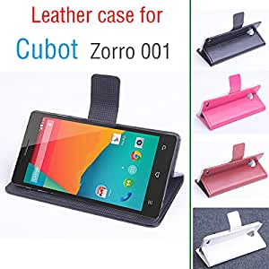 free shipping Cubot Zorro 001 case cover, Good Quality Leather Case + hard Back cover For Cubot Zorro001 cellphone --- Color:White