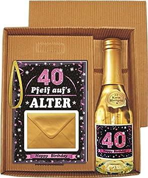 Pfeif Auf S Alter 40 Im Geschenke Set Fur Frauen Zum Geburtstag