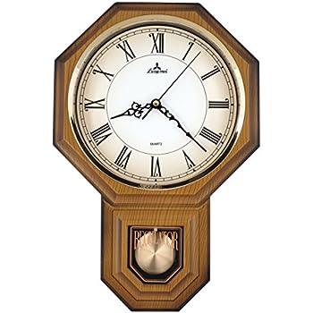 Amazon Com Justime Traditional Schoolhouse Roman Pendulum