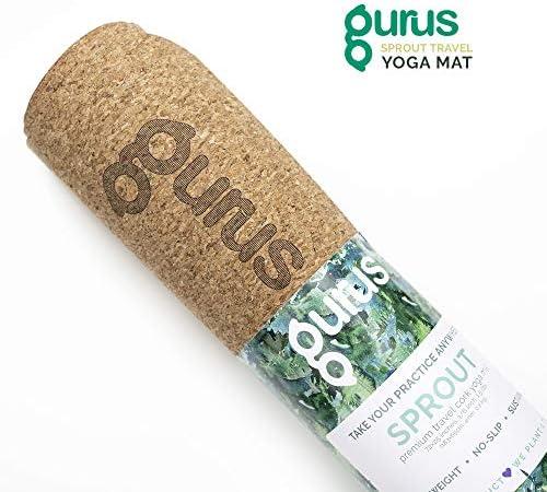 Gurus Natural Cork Yoga Mat with TPE Latex-Free Bottom, Sprout Eco Friendly Yoga Mat, Non Slip Yoga Cork Mat, 72×25 Inches