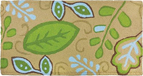 Jellybean Green Leaves Memory Foam Rug