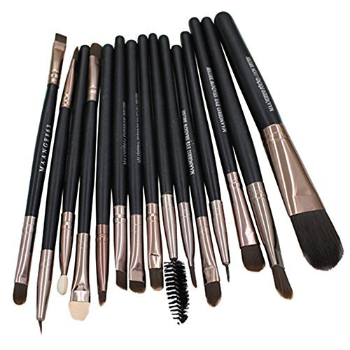15pcs Makeup Tool Brushes Set Kit Foundation Eyeshadow Mascara Lip Brush Eyebrow Brushes