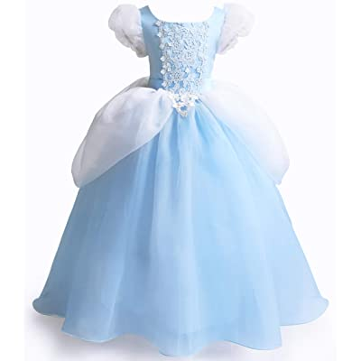 Cinderella Dress Princess Costume Halloween Party Dress up: Clothing