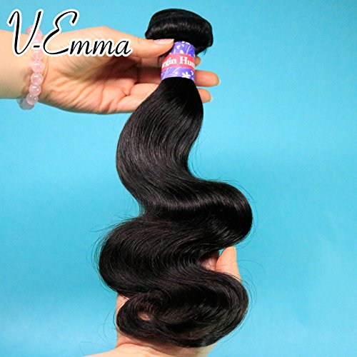 V-Emma Brazilian Virgin Body Wave 1 Bundles Hair Extensions 8a Grade Natural Color Single Length 24