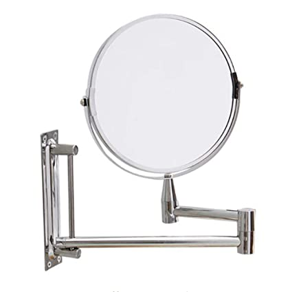 Beau Wall Mounted Makeup Mirror Bathroom Extension Mirror Double Sided Swivel  Vanity Mirror Chrome Finished Wall