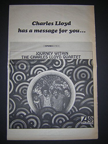Charles Lloyd Quartet Journey Within Original 1968 LP Album Promo Poster Newspaper (1968 Promo Poster)